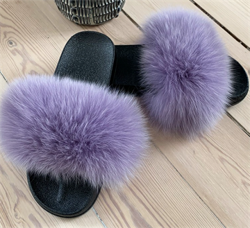 Accesie copenhagen - fur slippers Purple