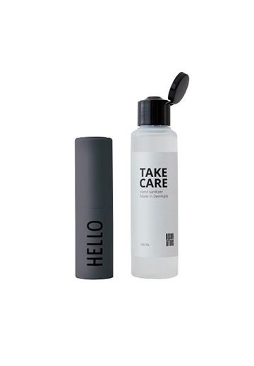 TAKE CARE HAND SANITIZER - GREY HELLO